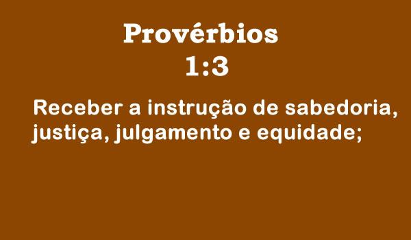 Provérbios 1:3