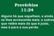 Provérbios 11:24