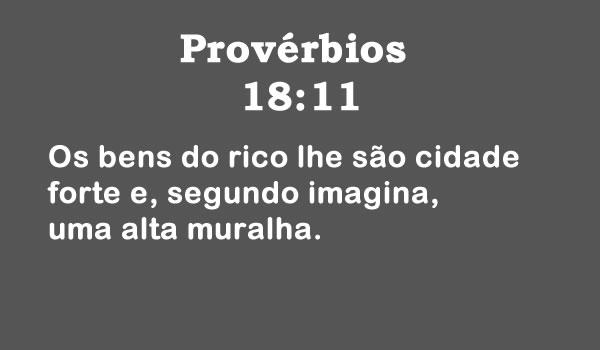 Provérbios 18:11